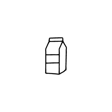 牛乳パックのアイコン