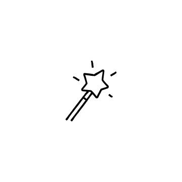 魔法の杖のアイコンのアイキャッチ用画像