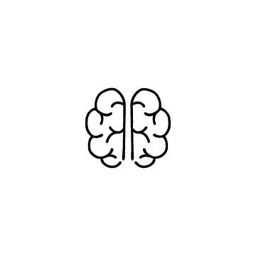脳のアイコンのアイキャッチ用画像