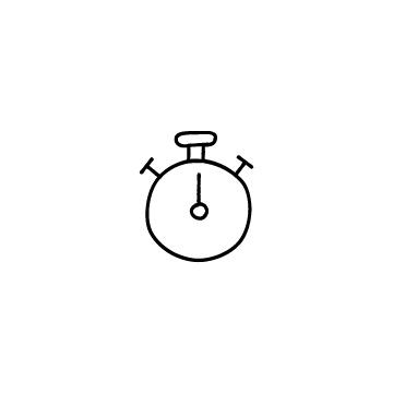 ストップウォッチのアイコンのアイキャッチ用画像