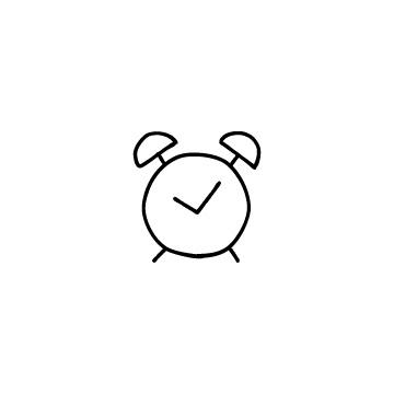 目覚まし時計のアイコンのアイキャッチ用画像