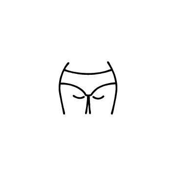 女性のヒップのアイコンのアイキャッチ用画像