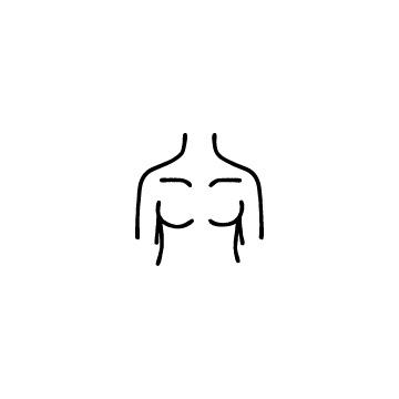 女性の胸のアイコン