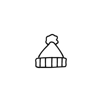 ニットの帽子のアイコン
