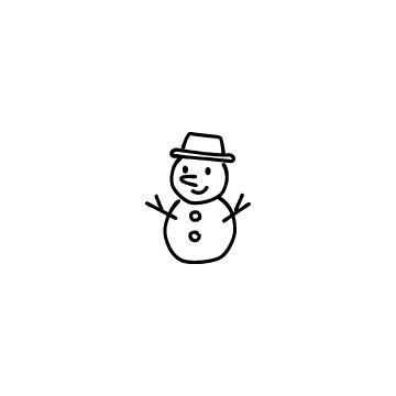 雪だるまのアイコン