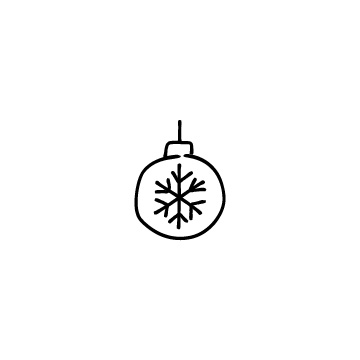 クリスマスの飾りのアイコン