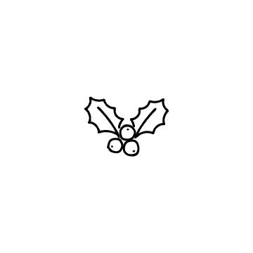 柊の実と葉のアイコン