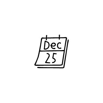 12月25日のカレンダーのアイコン