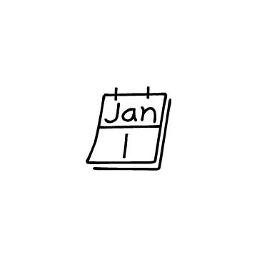 1月1日のカレンダーのアイコン