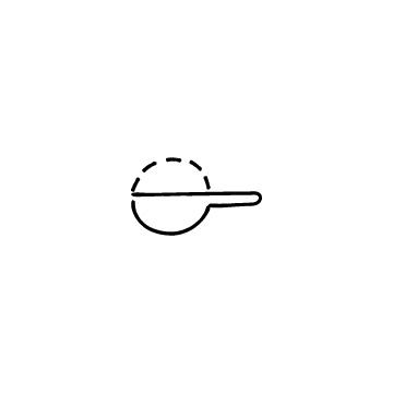 山盛りのスプーンのアイコン