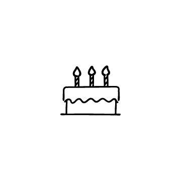 バースデーケーキのアイコン