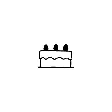 いちごのホールケーキのアイコン