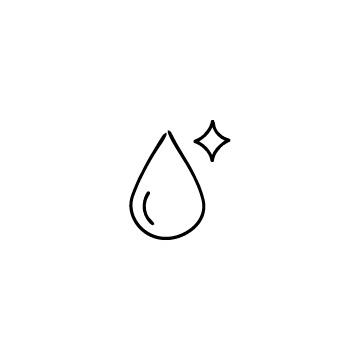 水滴とキラキラのアイコン