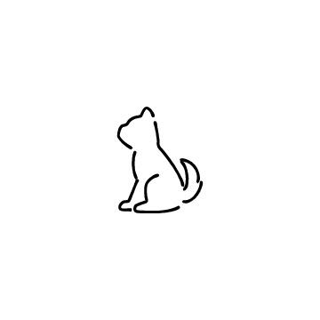座っている犬のアイコン
