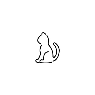 座っている猫のアイコンのアイキャッチ用画像