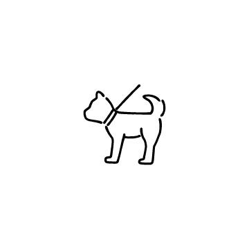 リードをつけた犬のアイコン