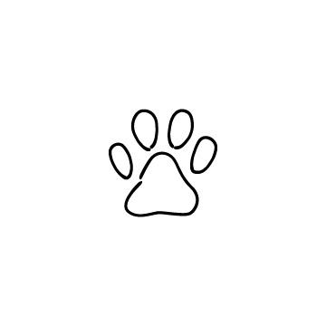 動物の足跡のアイコン