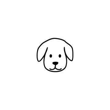 犬の顔のアイコン
