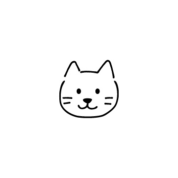 ネコの顔のアイコンのアイキャッチ用画像