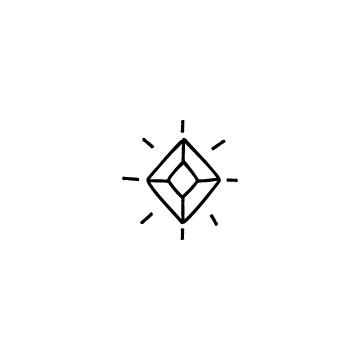 四角形の宝石のアイコン