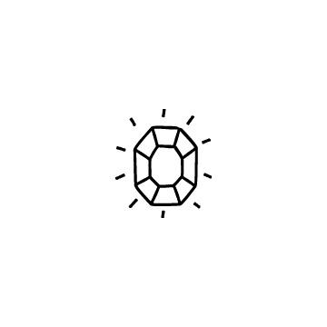 八角形の宝石のアイコン