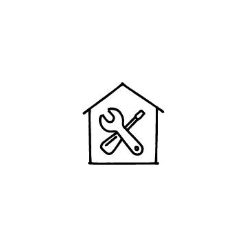 家と工具のアイコン