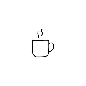 湯気の出ているコーヒーカップのアイコン