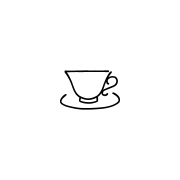ティーカップのアイコン