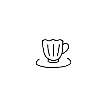 コーヒーカップのアイコンのアイキャッチ用画像