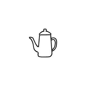 コーヒーポットのアイコン