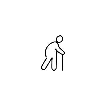 杖をついた人のアイコンのアイキャッチ用画像