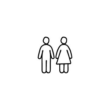 男性と女性のアイコン