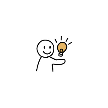 電球と人のアイコン