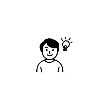 電球と男性のアイコン