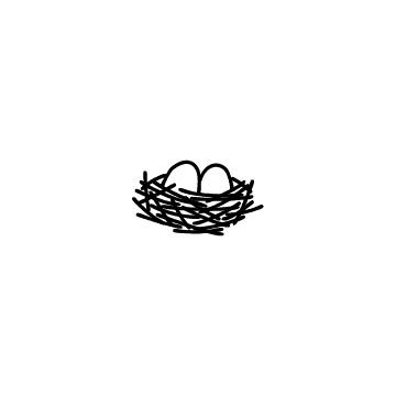 鳥の巣と卵のアイコン