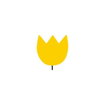 黄色いチューリップの花のアイコン