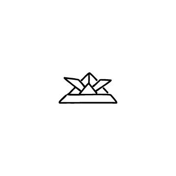 折り紙の兜のアイコンのアイキャッチ用画像