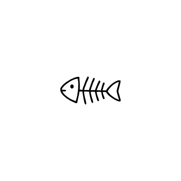 魚の骨のアイコンのアイキャッチ用画像