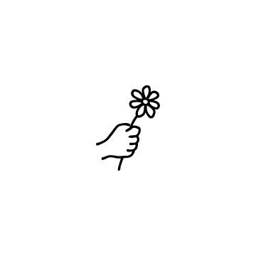 花を持っている手のアイコンのアイキャッチ用画像