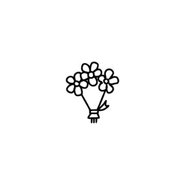 ラッピングされた花束のアイコンのアイキャッチ用画像