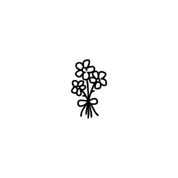 リボンでまとめた花束のアイコンのアイキャッチ用画像