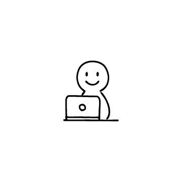 パソコンと人のアイコンのアイキャッチ用画像