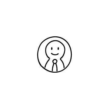 丸で囲んだビジネスマンのアイコンのアイキャッチ用画像