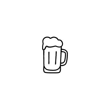 ビールジョッキに入ったビールのアイコン