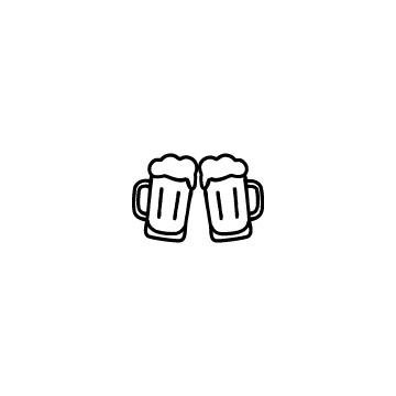 乾杯(ビールジョッキ)のアイコン