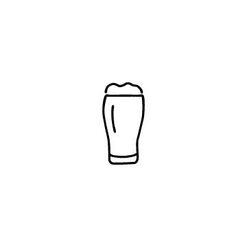 ビールグラスに入ったビールのアイコン