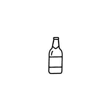 ビール瓶のアイコン