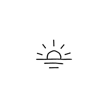 日の出・太陽のアイコンのアイキャッチ用画像