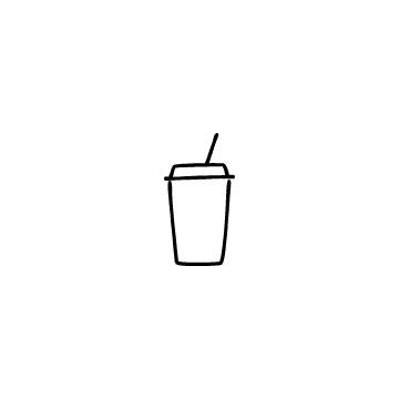 テイクアウト用ドリンクカップのアイコンのアイキャッチ用画像