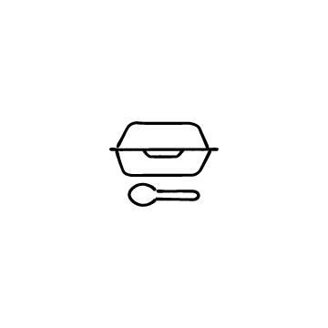 テイクアウト容器のアイコンのアイキャッチ用画像